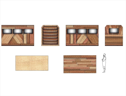 Interior Trojan Horse Paint Elevations