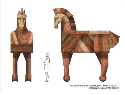 Trojan Horse Paint Elevation